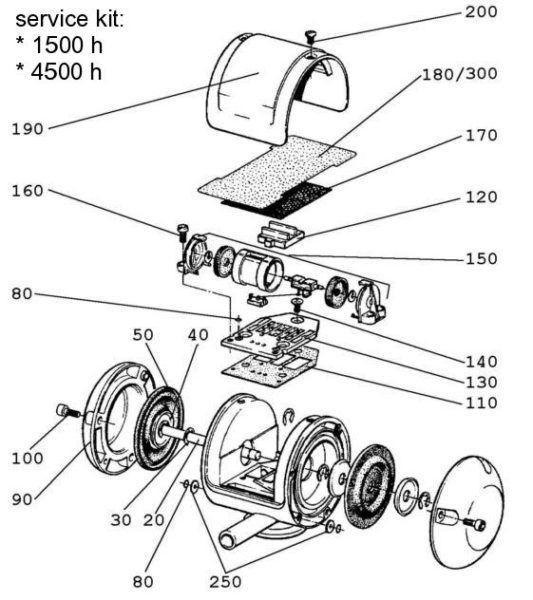 7041-2700-550 Пульсатор в компл. (упак.) Constant PV60/40 45kPa (схема)