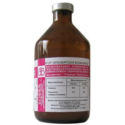 Формалвакцина поливалентная гидроокись — алюминиевая против колибактериоза (эшерихиоза) поросят